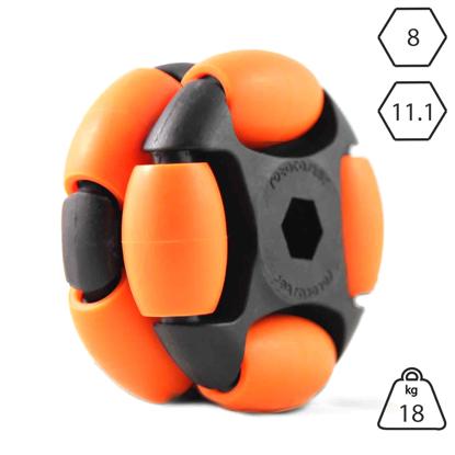 rotacaster-48mm-double-65a-medium-polyurethane-roller-11.1mm-hex-bore