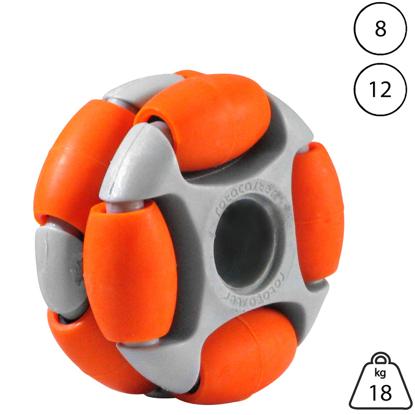 rotacaster-48mm-double-65a-medium-polyurethane-roller-12mm-plain-bore