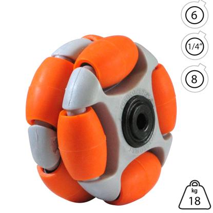 rotacaster-48mm-double-65a-medium-polyurethane-roller-6mm-acetal-bearing